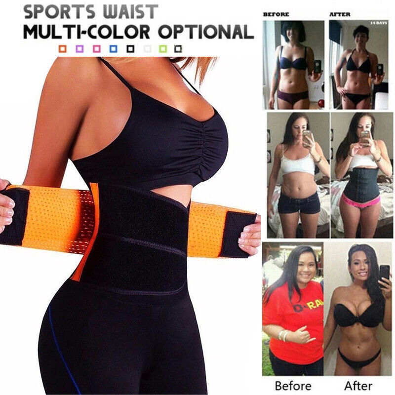 Gym Waist Trainer Weight Loss for Women Men Sweat Thermo Wra