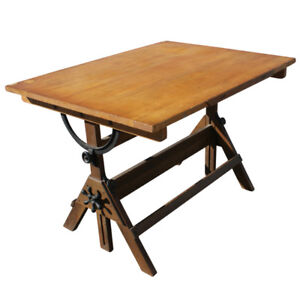 solid wood drawing/drafting table