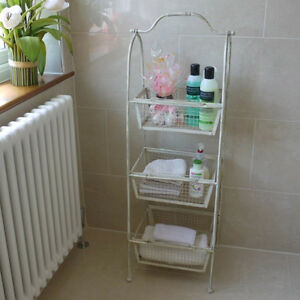 vintage cream shabby chic bathroom utility bedroom storage. Black Bedroom Furniture Sets. Home Design Ideas