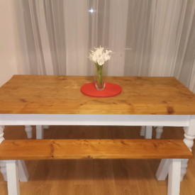 Handmade dinning table and bench