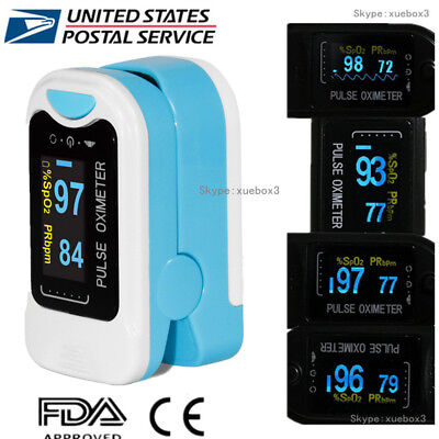Finger Tip Pulse Oximeter Spo2 Heart Rate Monitor Blood Oxygen Sensor Meter Fda