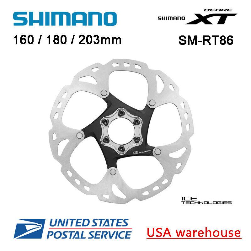 Shimano DEORE XT Ice-Tech SM-RT86 6 Bolts Disc Brake Rotors 160 180 203mm MT800