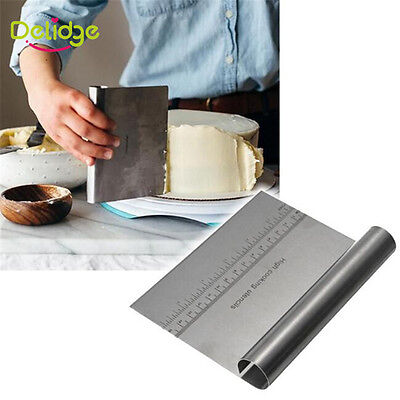 Stainless Steel Pizza Dough Scraper Cutter Kitchen Flour Pastry Cake Tool Gadget