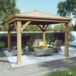 Wood Gazebo 12 x 12 - delivered and assembled