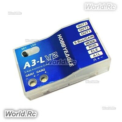 3 Axis Practical Board Fixed Wing RC Airplane Flight Controller Stabilizer Gyro