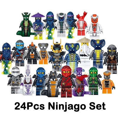 Set of 24 Stk Ninjago Mini Figures Kai Jay Sensei Wu Master Building Blocks Toys