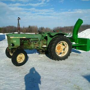 SOLD! John Deere Tractor w/ Snowblower not Massey or Kubota
