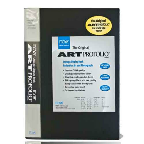 New Itoya Art Portfolio 8x10 Inch Storage Display Album Holds 48 Prints IA-12-7