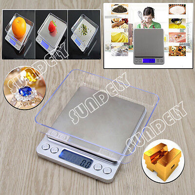 0.1G - 1000G Digital Kitchen Food Scale Electronic Balance Weight Postal Scales