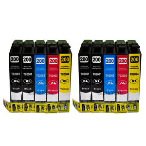 10 pk New T200XL ink for Epson WF-2520 WF-2530 WF-2540 XP-200 XP-300 XP-400