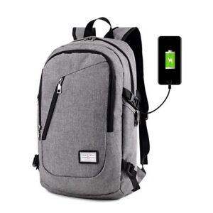 Backpack with USB Charging Port Fits 12-15.6 Inch Laptop