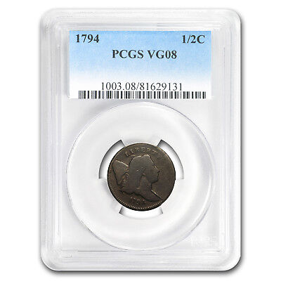 1794 Half Cent Lettered Edge VG-8 PCGS