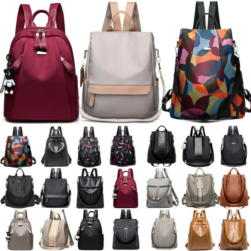 Womens Anti-Theft Waterproof Rucksack Backpack School Bags T