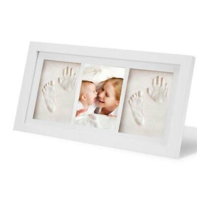 Baby Kid Children Foot Finger Hand Wooden Photo Frame Set Print Clay Ink Kit
