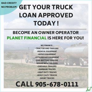 Trucks, Trailers, Heavy Equipment Loans Approved!