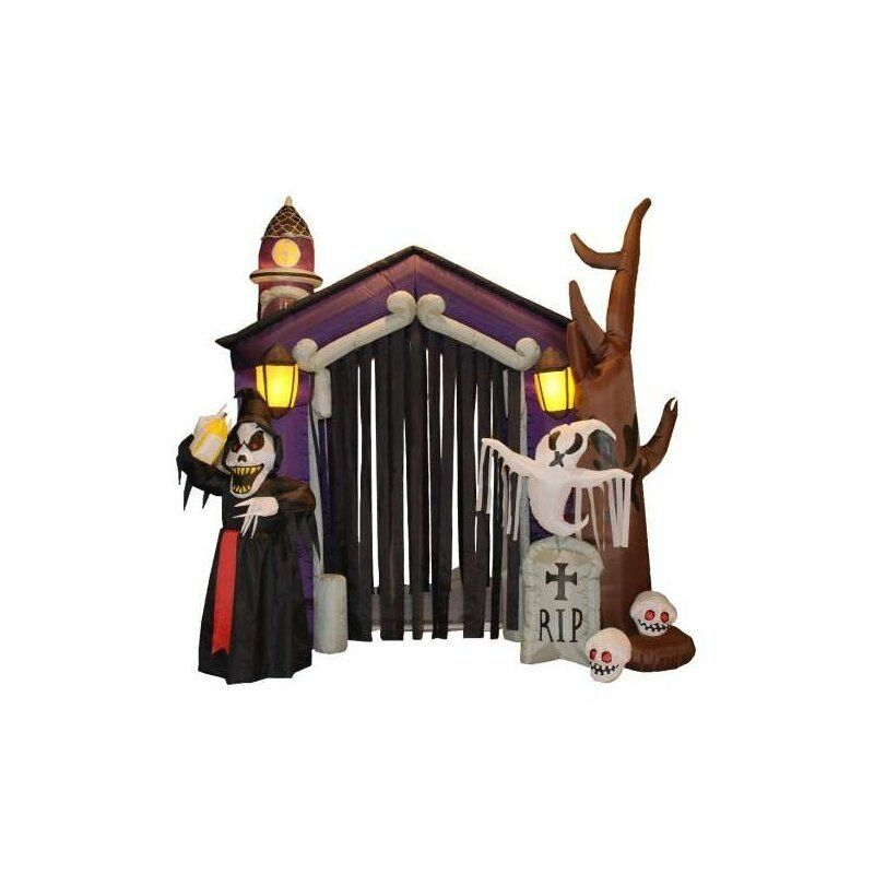 Inflatable Haunted House Decoration Halloween Self Inflating Indoor/outdoor Yard