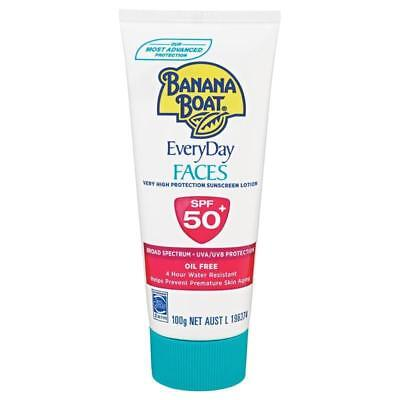 Everyday Protection Face Lotion - BANANA BOAT EVERYDAY FACES SPF 50+ 100G VERY HIGH PROTECTION SUNSCREEN LOTION
