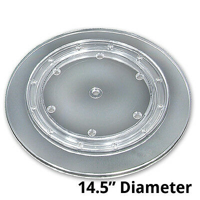 Clear Plastic Revolving Display Base 14.5d X 0.75h Inches- Case Of 10