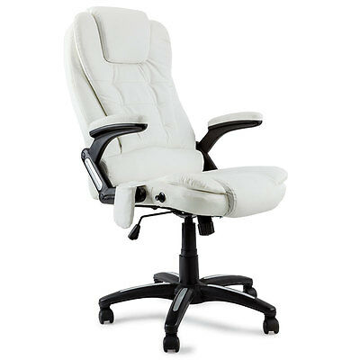 8 Point Massage Executive Office Chair Computer Faux Leather Recliner