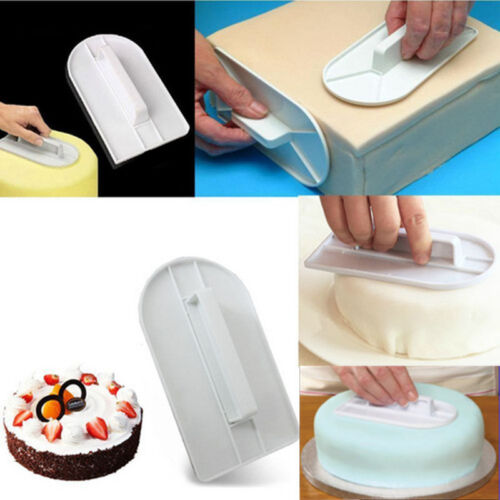 Kitchen Cake Smoother Spatula Icing Cream Scraper Fondant Pastry Decorating