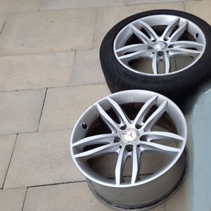 """2 ORIGINAL STAGGERED 17"""" WHEELS FOR MERCEDES BENZ"""