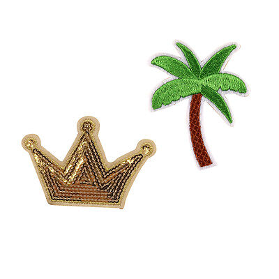 Diy Palm Tree (Crown Palm Tree Embroidery Applique Cloth DIY Sewing & Iron on Patch)