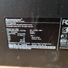 Lenovo H520s PC - refurbished