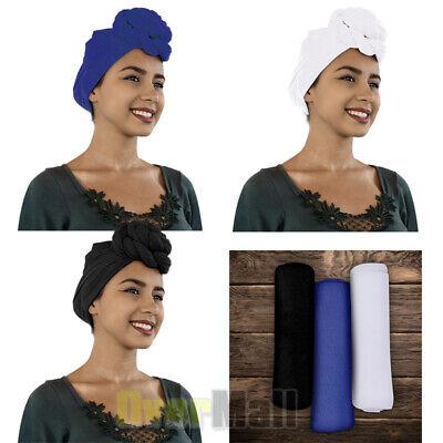 Knit Wrap - Women's Turban Stretch Knit Head Wrap Hair Jersey Scarf Tie Chemo African 175x81