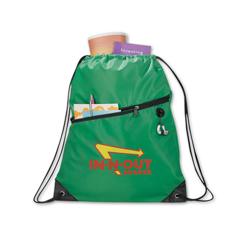 DELUXE DRAWSTRING TOTES - 150 quantity - Custom Printed with Your Logo