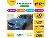 Blue BMW M3 3.0 M DCT 2017 M3 FROM £190 PER WEEK!