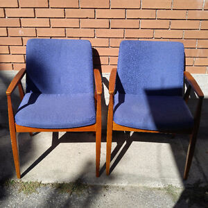 Two Wood Lounge Chairs - $100