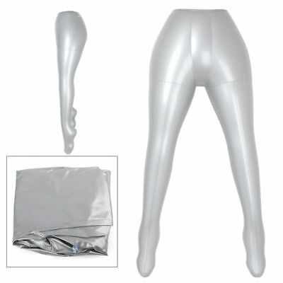 Female Pants Trou Underwear Inflatable Mannequin Dummy Torso Legs Model Silver