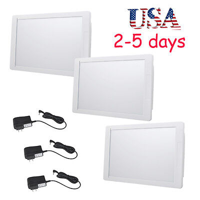 3x Us Super Sight Dental X-ray Film Illuminator Light Box Viewer Led Light Panel