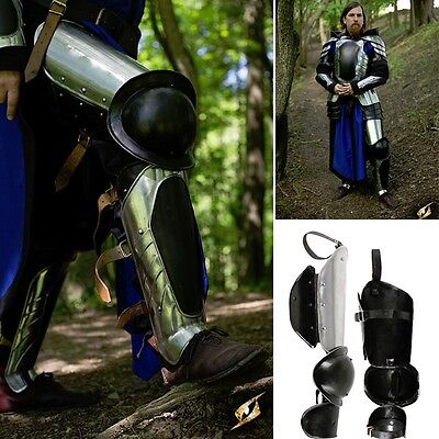 Black Ice Warrior Leg Armour Set Perfect For Re-enactment Or LARP