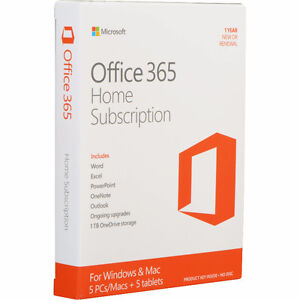 Office 365 Home Subscription for up to 5 computers