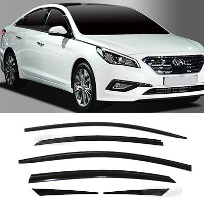 Smoke Window Sun Vent Visor Rain Guards 6P A196 For HYUNDAI 2015-2018 Sonata i45