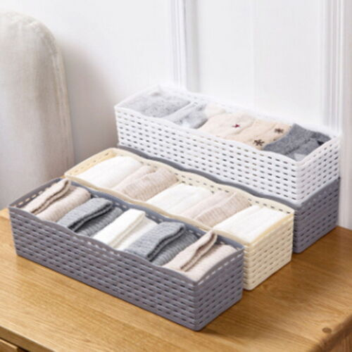 5 Cells Plastic Organizer Storage Box Tie Bra Socks Drawer C