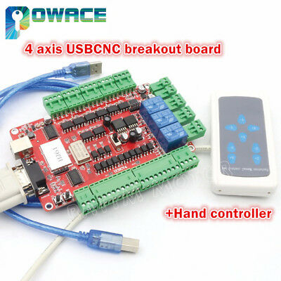 4 Axis Usbcnc Breakout Board Interface Controllerhand Controller For Cnc Router