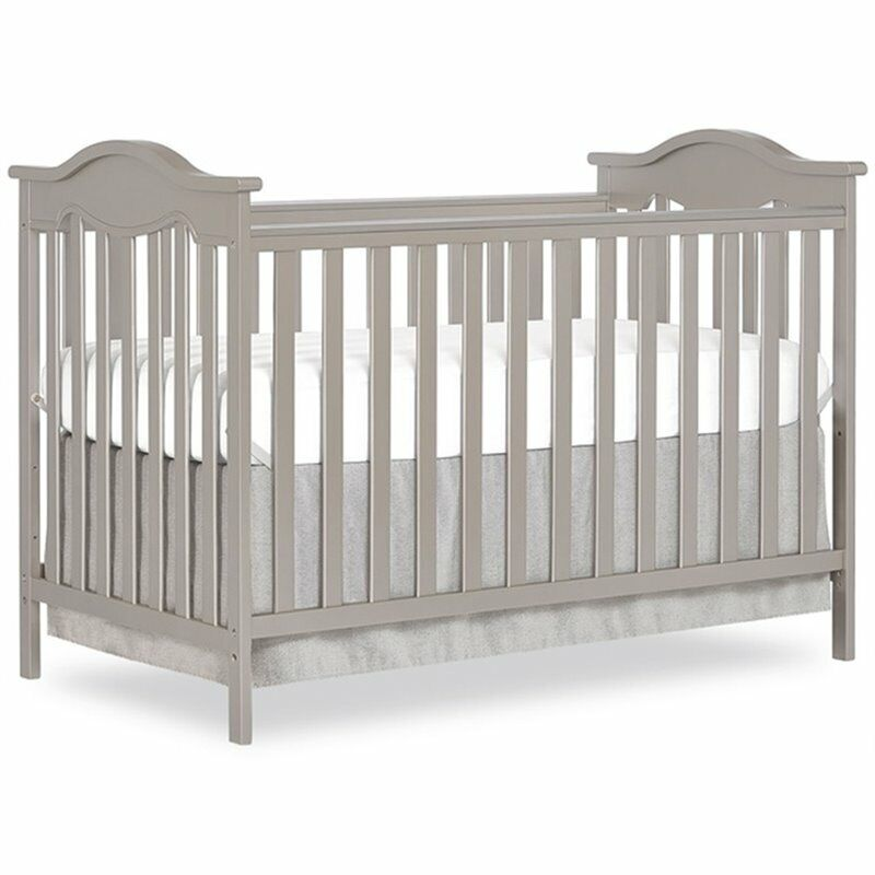 Dream On Me Bella Rose Classic Convertible Crib in Gold Dust