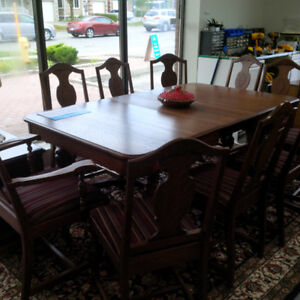 Wooden classic design dining table set w/10 chairs