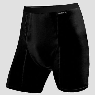 """Mens Horse Riding Boxer Shorts Padded (Plus) - BLACK - Small (30""""-32"""") Equetech"""