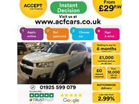 2012 WHITE CHEVROLET CAPTIVA 2.2 VCDI 184 LTZ 7 SEAT AUTO CAR FINANCE FR £29 PW