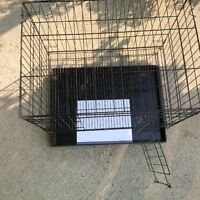 Black Wire Crate with Grid Floor