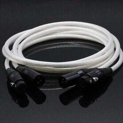 XLR Cable Hi-end 5NOCC Balanced cable Hifi 2 XLR Male to 2...