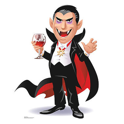 VAMPIRE DRACULA Cartoon CARDBOARD CUTOUT Standup Standee Kid's Halloween - Vampires Halloween Cartoon