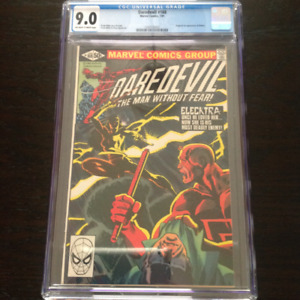 Daredevil #168 Marvel Comics CGC 9.0 grade - Origin of Elektra