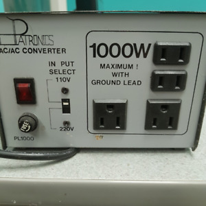 AC-1000 Step Up/Down Voltage Converter Transformer 110V/220V