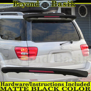 2001-2007 Toyota Sequoia MATTE BLACK Factory Style Spoiler Roof Wing w/LED Light