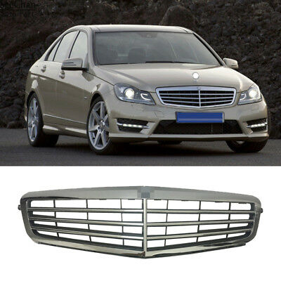 New Chrome Front Grill Grilles Fit For Mercedes-Benz C CLASS/W204 2007-2013