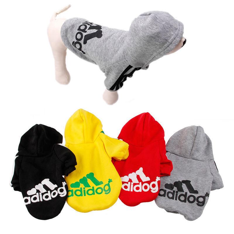 Casual Winter adidog Pet Dog Clothes Warm Hoodie Coat Jacket